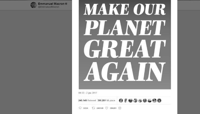 Macron Difende Clima E Transizione Energetica