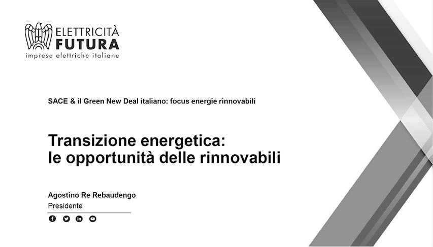 SACE, Missione Green New Deal In Italia